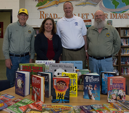 Vallyview School book donation