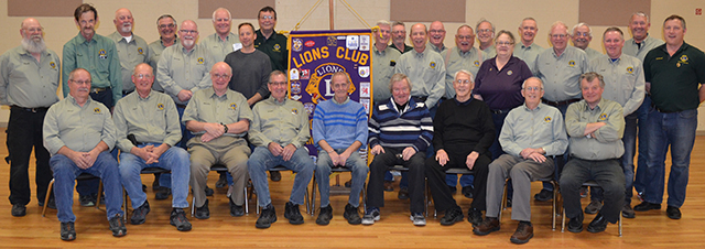 Poplar Hill & District Lions Club with visitors